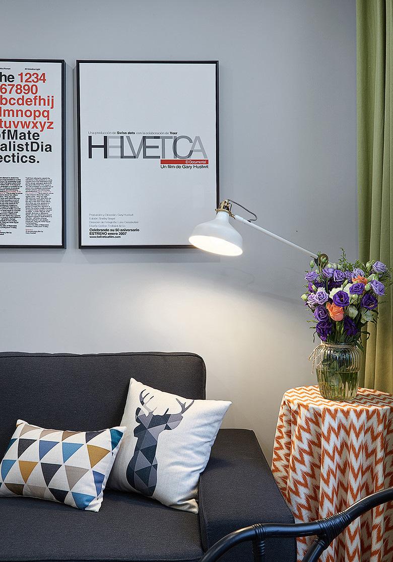 客厅图片来自家装大管家在小空间大乾坤 74平北欧混搭空间的分享