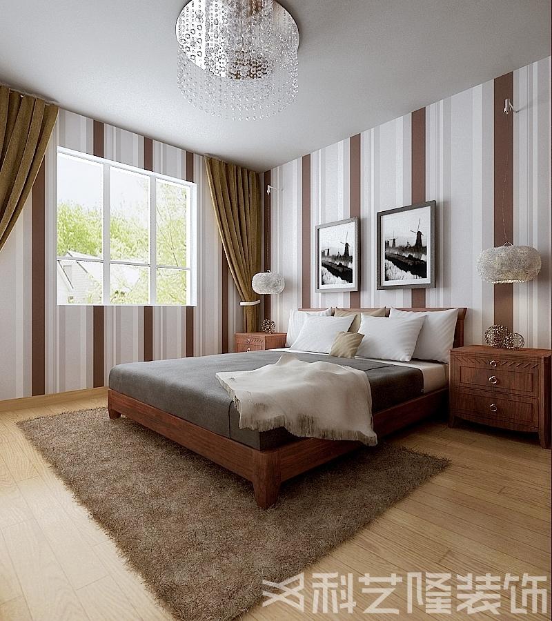 卧室图片来自天津科艺隆装饰在广德园—后现代混搭风格—124㎡的分享
