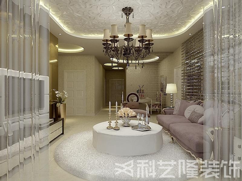 客厅图片来自天津科艺隆装饰在广德园—后现代混搭风格—124㎡的分享