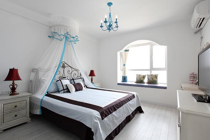 二居 地中海 80后 卧室图片来自今朝装饰张智慧在地中海之首开缇香郡的分享