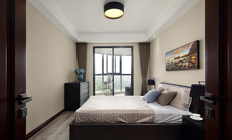 卧室图片来自家装大管家在那一抹橙色 109平现代简约3居室的分享