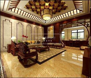 中铁逸都别墅中式风格案例