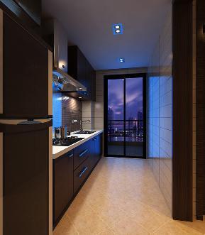 现代 二居 白领 实用 厨房图片来自天津京尚装饰在京尚装饰-保利-现代两居88㎡的分享