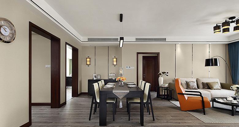 餐厅图片来自家装大管家在那一抹橙色 109平现代简约3居室的分享