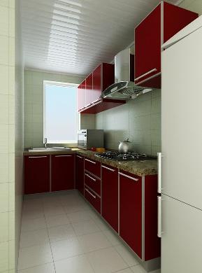 现代 复式 收纳 实用 白领 厨房图片来自天津京尚装饰在京尚装饰-保利-现代复式82㎡的分享