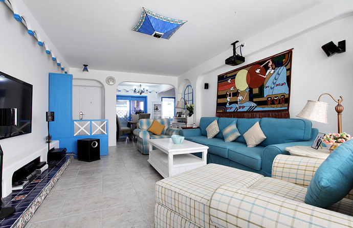 二居 地中海 80后 客厅图片来自今朝装饰张智慧在地中海之首开缇香郡的分享