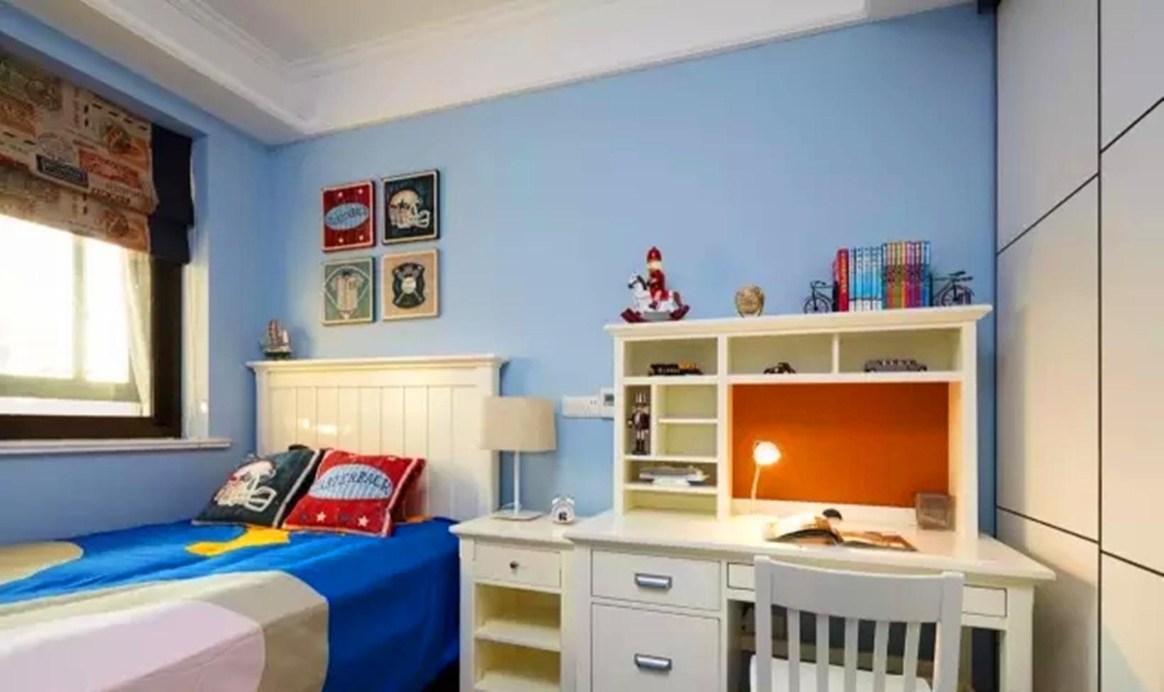 简约 美式 四居 清新 实用 儿童房图片来自高度国际装饰宋增会在东辰小区 133平米简约美式的分享