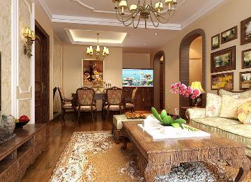 阳光波尔多90平完美家装欧式风格