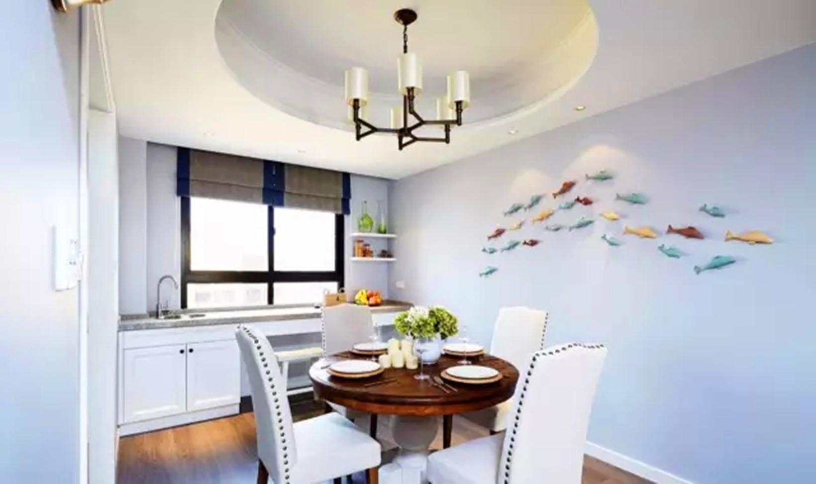 简约 美式 四居 餐厅图片来自高度国际装饰宋增会在东辰小区 133平米简约美式的分享