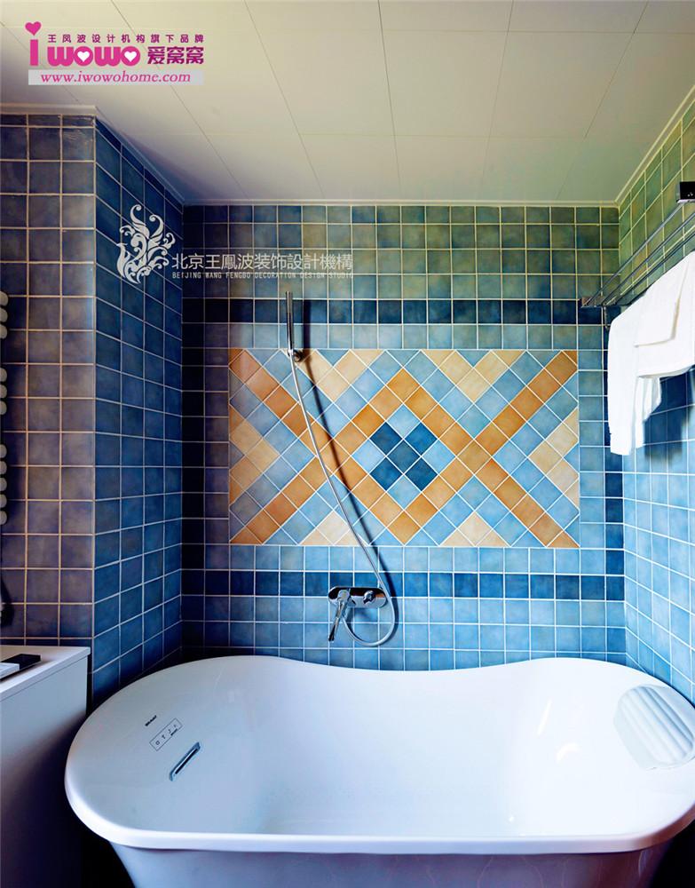 美式两居室 卫生间图片来自爱窝窝精致家装机构在莱茵河畔 旧居翻新 凭添妩媚的分享