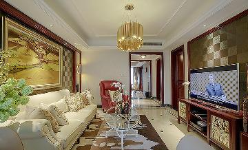 奢华舒适空间 126平欧式混搭3居