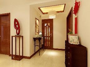 新中式 三居 格调 舒适 玄关图片来自天津京尚装饰在京尚装饰-王府-新中式三居140㎡的分享