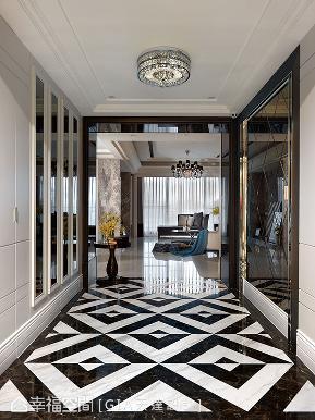 新古典 简约 三居 收纳 玄关图片来自幸福空间在巧琢比例 织就时尚古典寓所的分享