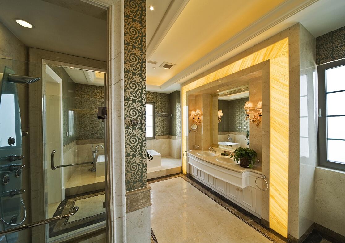 美式 古典 温馨 时尚温馨 舒适自然 卫生间图片来自北京紫禁尚品国际装饰kangshuai在北京紫御华府的分享