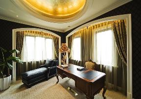 美式 古典 温馨 时尚温馨 舒适自然 书房图片来自北京紫禁尚品国际装饰kangshuai在北京紫御华府的分享