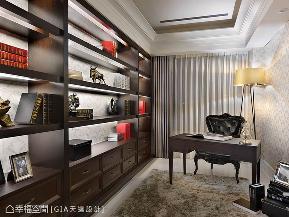 新古典 简约 三居 收纳 书房图片来自幸福空间在巧琢比例 织就时尚古典寓所的分享