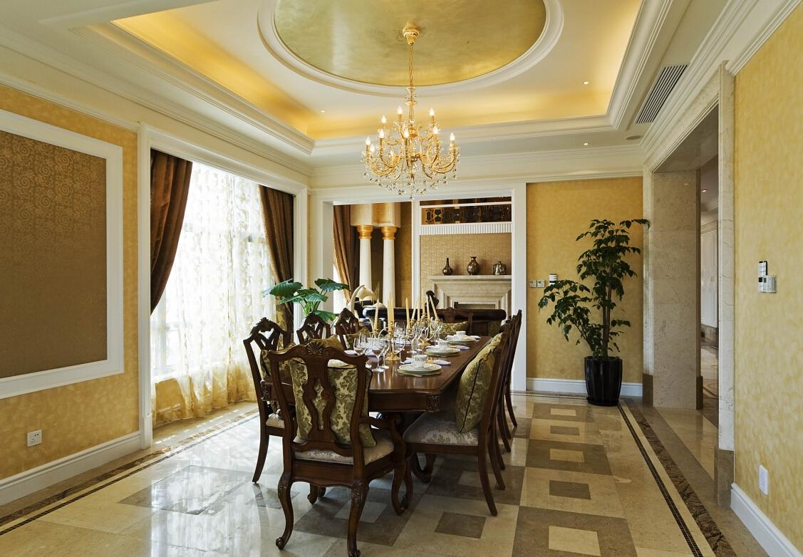 美式 古典 温馨 时尚温馨 舒适自然 餐厅图片来自北京紫禁尚品国际装饰kangshuai在北京紫御华府的分享
