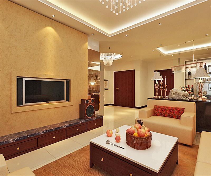 客厅图片来自天津科艺隆装饰在富裕中心—现代风格—75.68㎡的分享