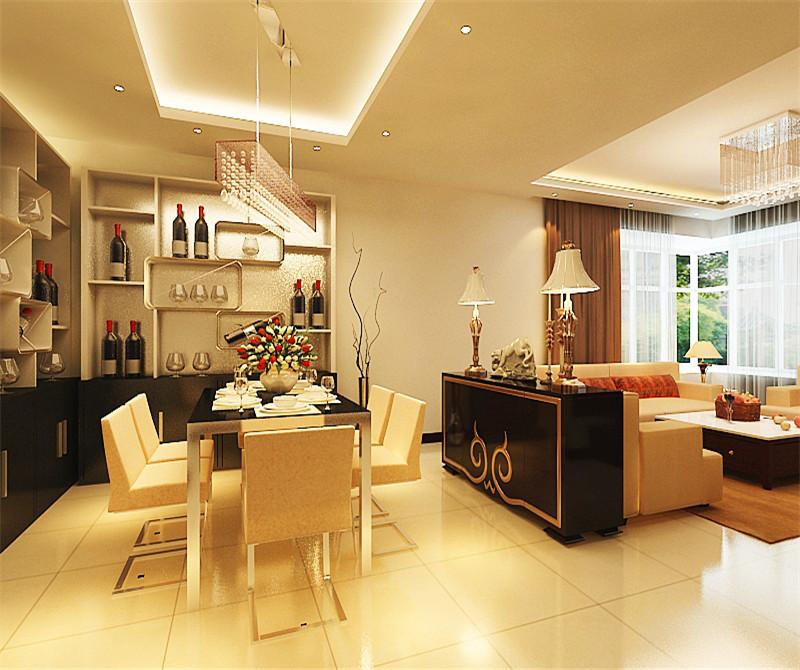 餐厅图片来自天津科艺隆装饰在富裕中心—现代风格—75.68㎡的分享