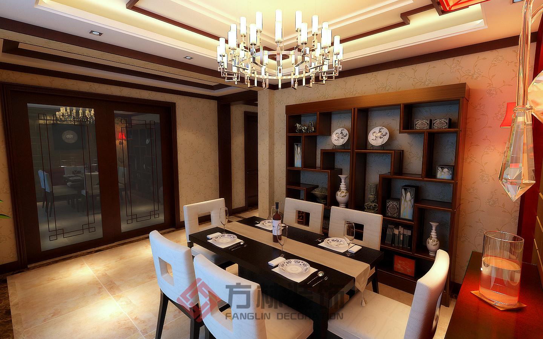 别墅 中式 小资 中式风格 餐厅图片来自方林装饰在逸景盛熙城320平中式装修案例的分享