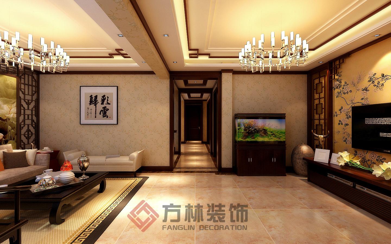 别墅 中式 小资 中式风格 客厅图片来自方林装饰在逸景盛熙城320平中式装修案例的分享