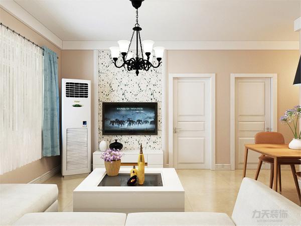 业主是新婚夫妇,王先生和王太太,将风格定位为简约风格。整体的墙面是浅咖色,温馨别致,加上几幅抽象的现代画,桌上的野花让整个空间舒适而自然。