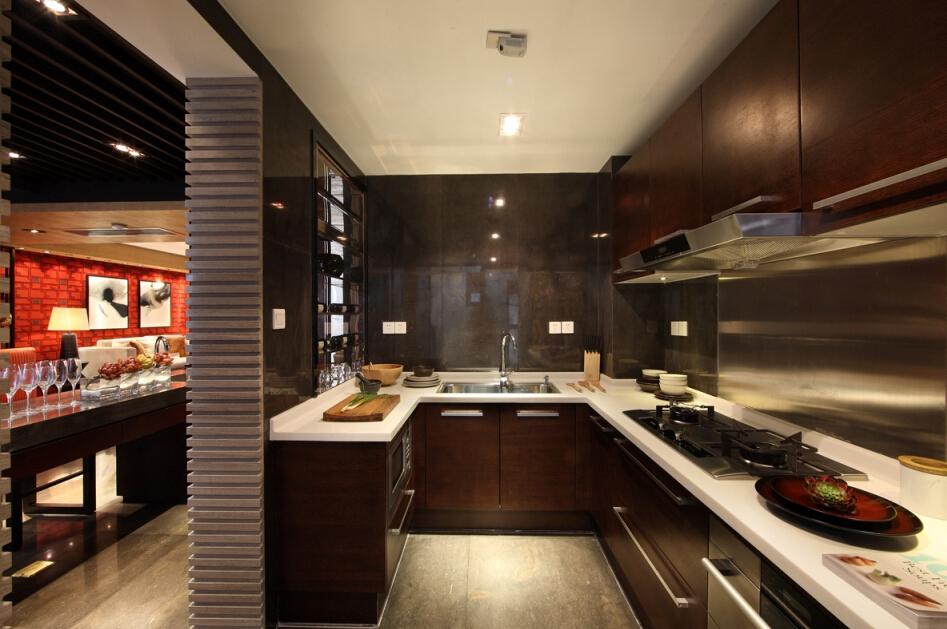 新古典 现代 简约 温馨 时尚 前卫 厨房图片来自北京紫禁尚品国际装饰kangshuai在北京保利春天里的分享