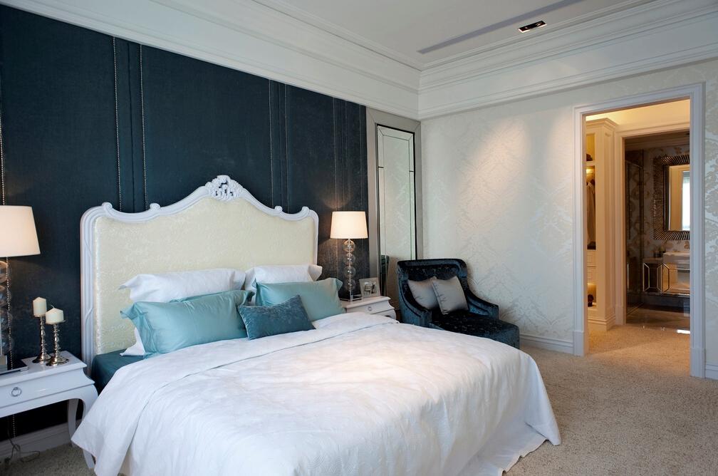 简约 现代 时尚 温馨 舒适 合理消费 不失品味 卧室图片来自北京紫禁尚品国际装饰kangshuai在北京蓝爵公馆的分享