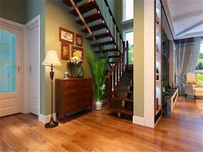 美式 四居 收纳 旧房改造 小资 楼梯图片来自沙漠雪雨在220平米美式随意不羁爱自由的分享