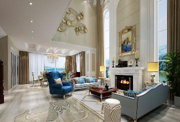 固安孔雀城450平新古典完美家装