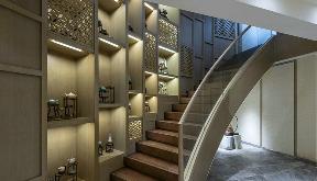 中式 别墅 楼梯图片来自张勇高级室内设计师在御汤山中式设计案例效果展示的分享