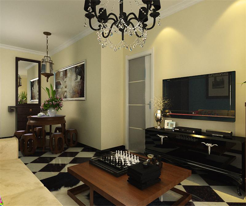 客厅图片来自天津科艺隆装饰在朝阳北部湾—现代混搭—84.96的分享