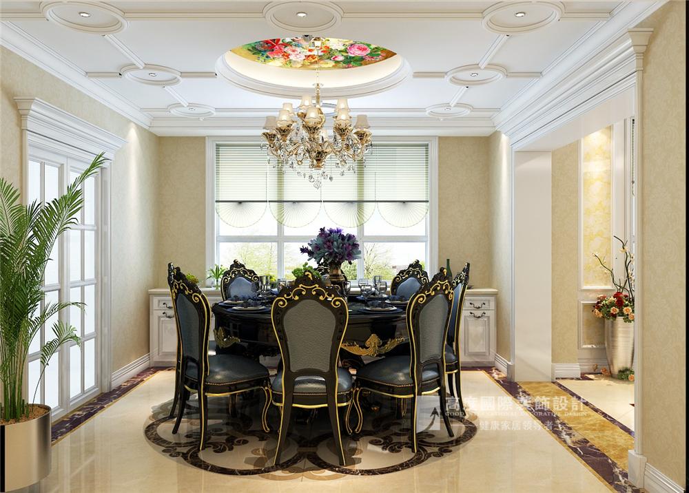 简约 欧式 混搭 田园 别墅 收纳 旧房改造 80后 小资 餐厅图片来自周楠在富春玫瑰园-300平方简欧风格的分享