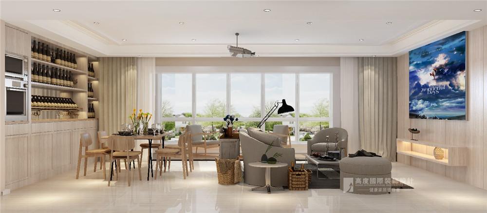 简约 欧式 田园 混搭 三居 别墅 收纳 80后 旧房改造 客厅图片来自周楠在龙湖春江郦城-168平方简约风格的分享
