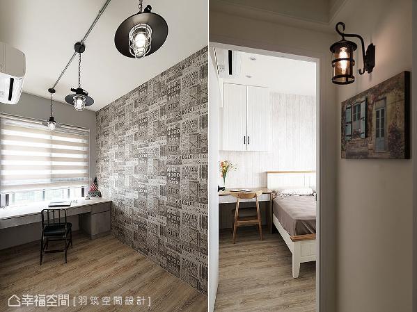 田志杰设计师选用铁件造型灯饰,为空间注入一丝工业风气息,也带来复古温馨氛围。