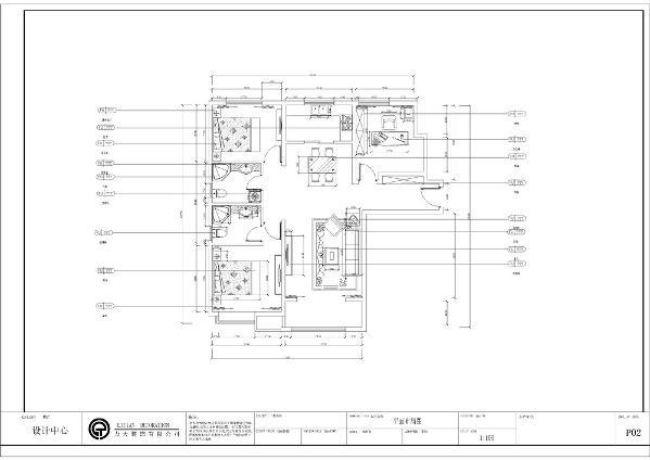 本案为天津华侨城-D-3室2厅2卫-126坪,本案户型空间分布明确,功能空间齐全。