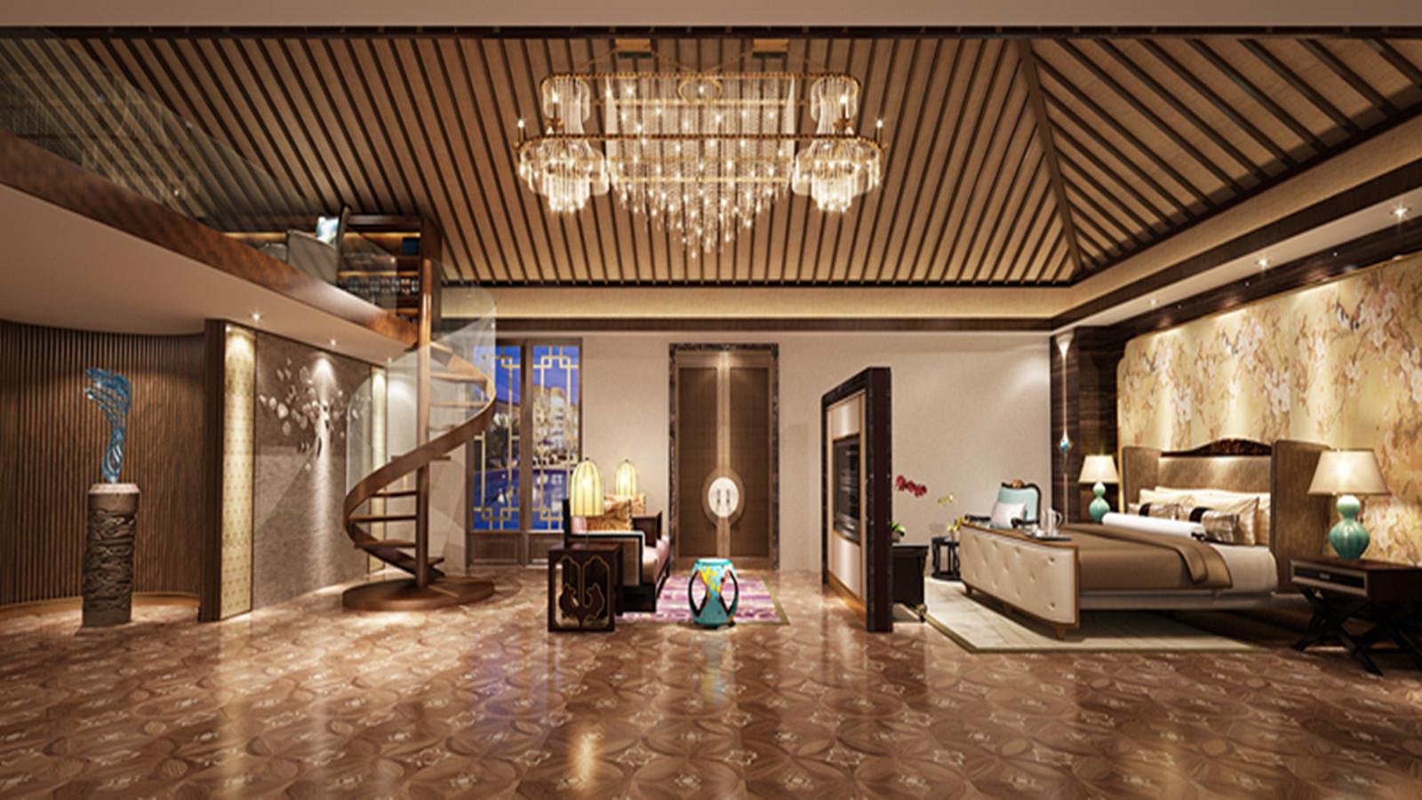 别墅 欧式 奢华 卧室图片来自高度国际装饰宋增会在达观别墅240平米奢华欧式的分享