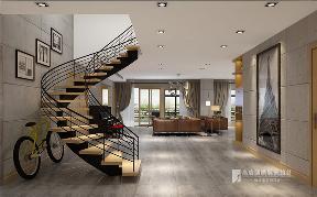 简约 欧式 田园 混搭 别墅 白领 收纳 旧房改造 80后 楼梯图片来自周楠在丽晶国际-400平方工业风格的分享