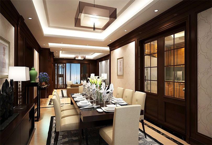 三居 白领 收纳 80后 小资 餐厅图片来自实创装饰完美家装在北京新天地140平中式风格效果图的分享
