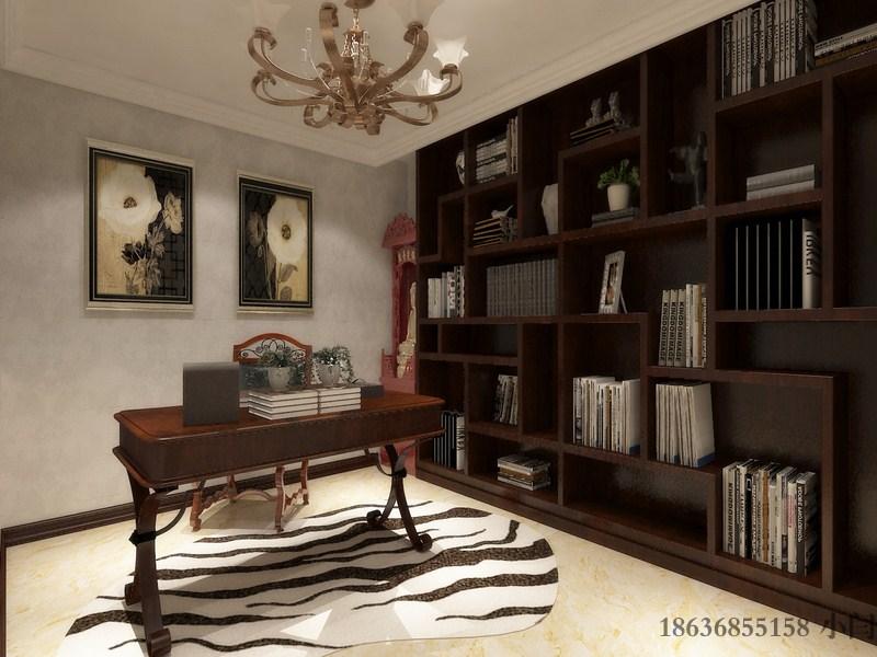欧式 三居 80后 书房图片来自装家美在奥龙湾180平米-欧式风格效果图的分享