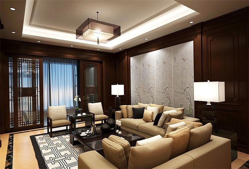 三居 白领 收纳 80后 小资 客厅图片来自实创装饰完美家装在北京新天地140平中式风格效果图的分享