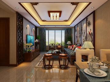 兰亭御湖城90平米中式风格