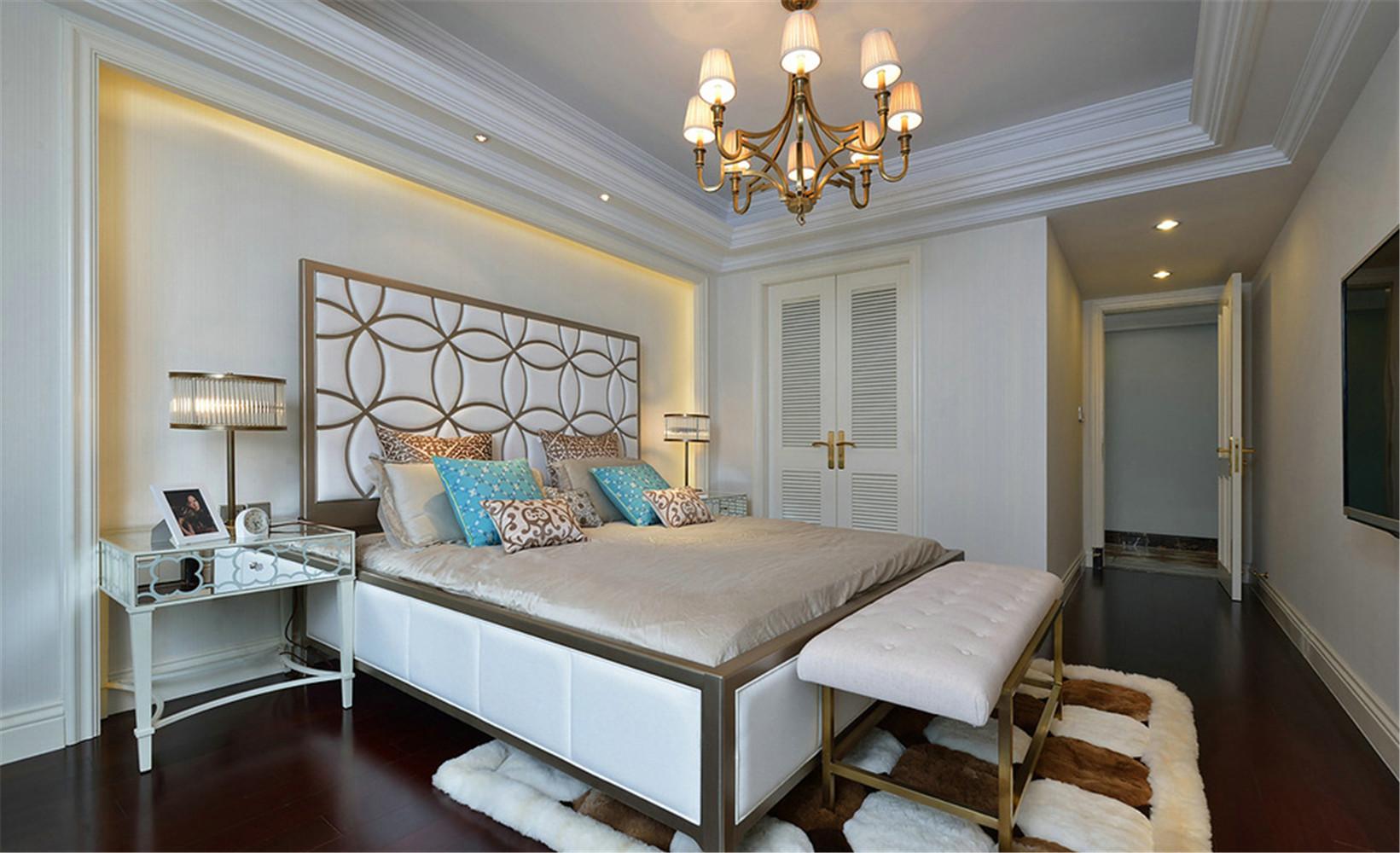 新古典 别墅 卧室图片来自张勇高级室内设计师在紫禁壹号院的分享