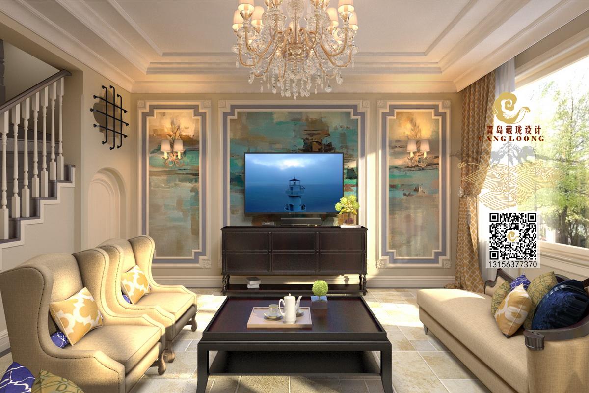 客厅图片来自藏珑在柴米油盐都是诗-青岛临安府叠拼的分享