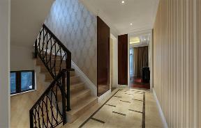 新古典 收纳 玄关 别墅 楼梯图片来自张勇高级室内设计师在紫阙·天禄的分享