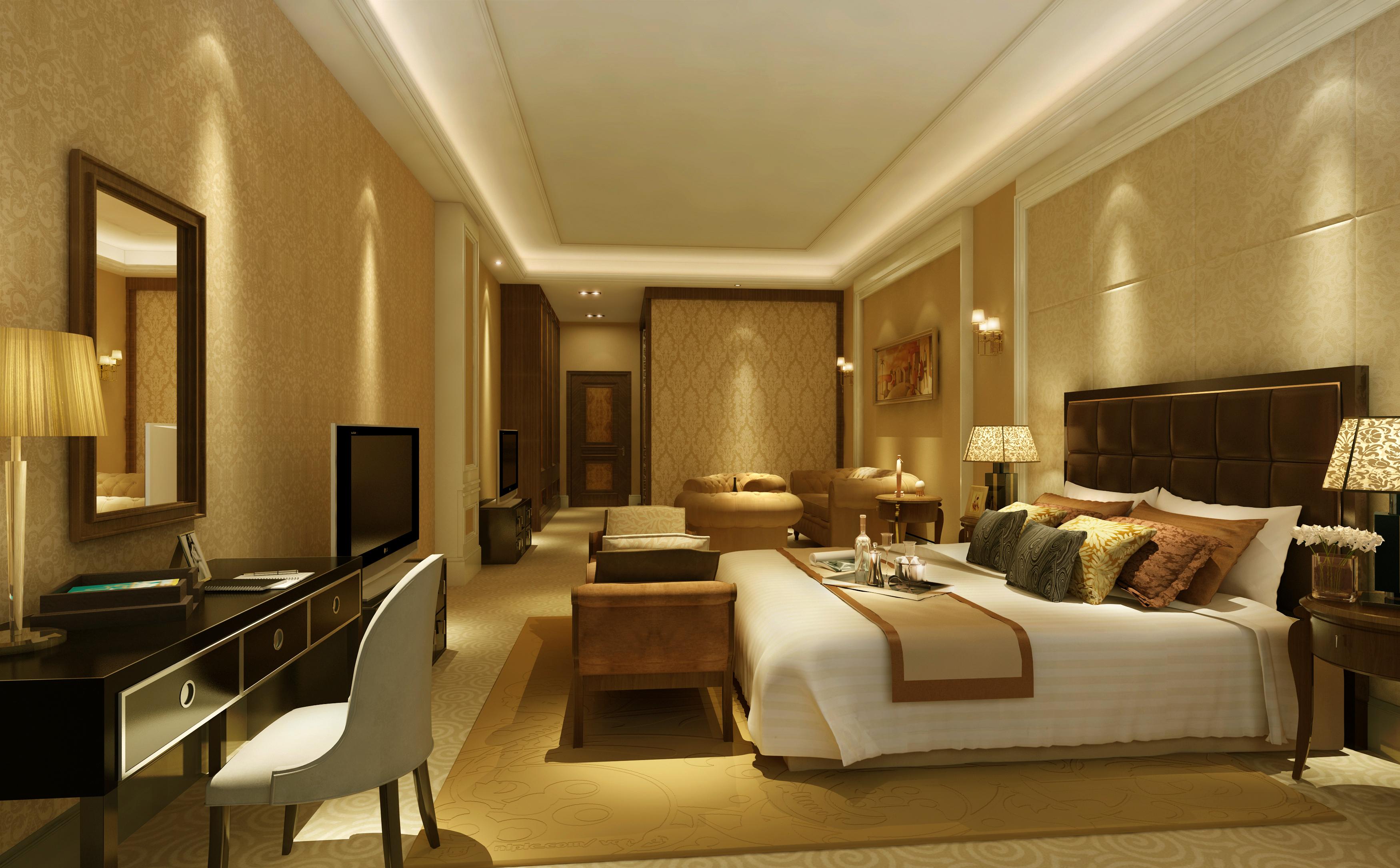 三居 港式 英伦 卧室图片来自天津京尚装饰在京尚装饰-观锦-港式三居128㎡的分享