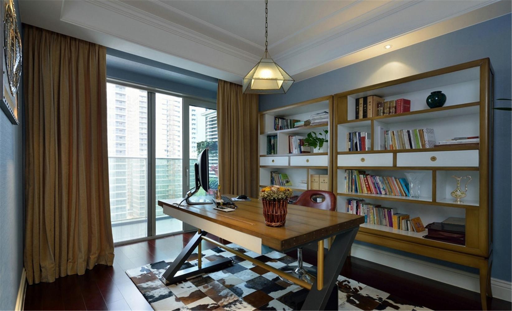 新古典 别墅 书房图片来自张勇高级室内设计师在紫禁壹号院的分享