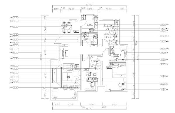 本案为天津亚泰蓝湾三室两厅两卫一厨126㎡户型。
