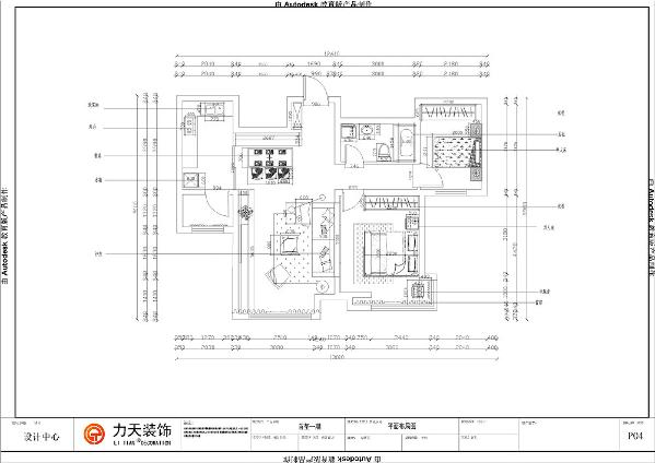 本户型为首玺一期高层标准层B2户型2室2厅1卫1厨100㎡的大户型。