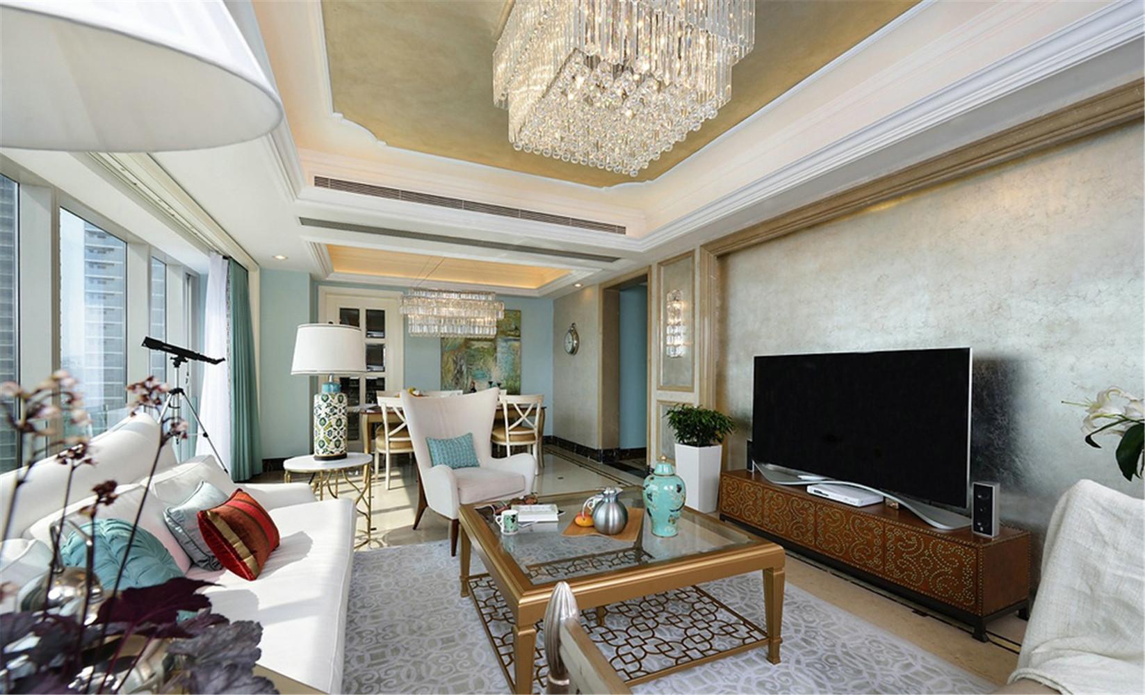 新古典 别墅 客厅图片来自张勇高级室内设计师在紫禁壹号院的分享